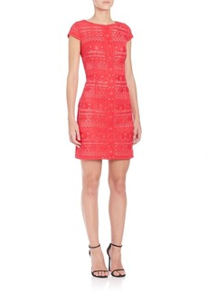 Laundry by Shelli Segal Embroidered Lace Dress