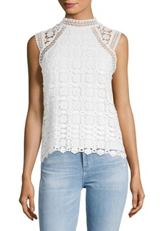 Laundry by Shelli Segal Embroidered Lace Sleeveless Top