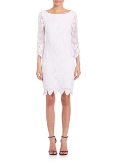 Laundry by Shelli Segal Embroidered Mesh Dress