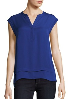 Laundry by Shelli Segal Faux Double Layer Top