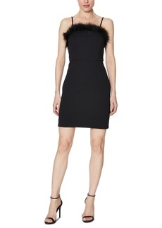 Laundry by Shelli Segal Faux-Feather-Trim Sheath Dress