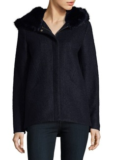 Laundry by Shelli Segal Faux Fur Hooded Coat