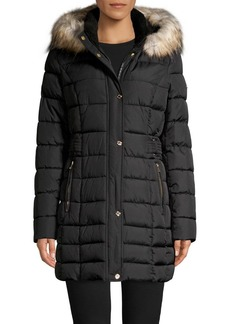 Laundry by Shelli Segal Faux-Fur Hooded Puffer Coat