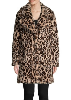 Laundry by Shelli Segal Faux-Fur Leopard-Print Coat