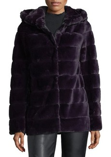 Laundry By Shelli Segal Faux-Fur Quilted Chubby Jacket