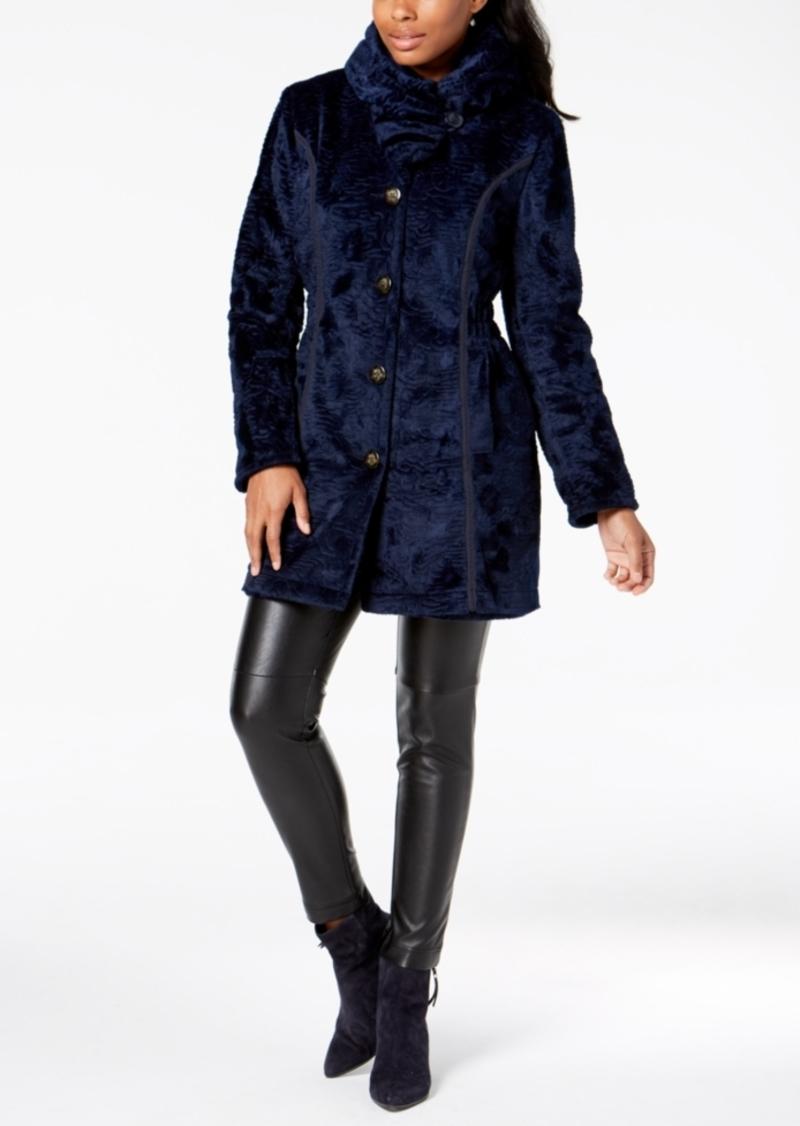 Laundry by Shelli Segal Faux-Fur Reversible Coat