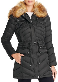 Laundry by Shelli Segal Faux Fur Trim Anorak
