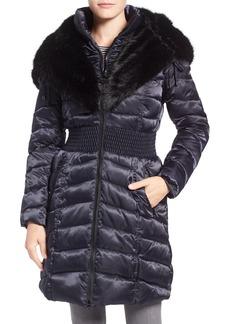 Laundry by Shelli Segal Faux Fur Trim Hooded Puffer Coat