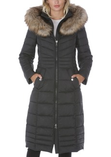Laundry by Shelli Segal Faux-Fur-Trim Hooded Puffer Coat, Created for Macy's