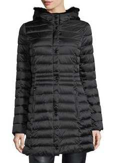 Laundry By Shelli Segal Faux-Fur-Trim Puffer Jacket