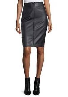 Laundry By Shelli Segal Faux-Leather Zip-Front Pencil Skirt