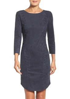 Laundry by Shelli Segal Faux Suede Dress