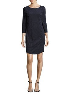 Laundry by Shelli Segal Faux Suede Lace-Up Dress