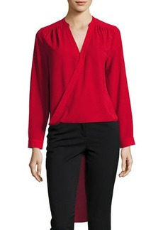 Laundry By Shelli Segal Faux-Wrap High-Low Tunic