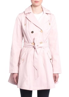 Laundry by Shelli Segal Fit & Flare Trench Coat