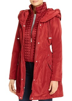 Laundry by Shelli Segal Fit-and-Flare Raincoat