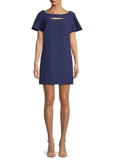 Laundry by Shelli Segal Flare-Sleeve Shift Dress