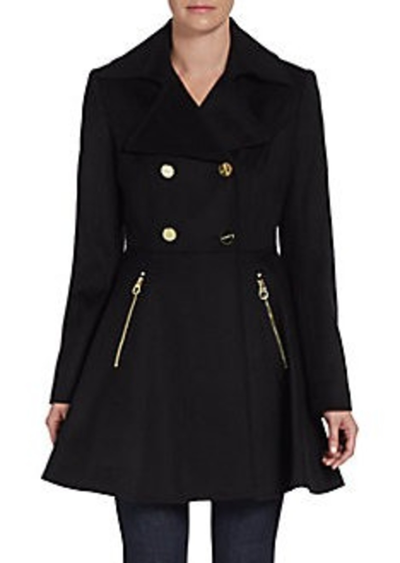 Laundry by Shelli Segal Flared Wool-Blend Coat