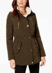 Laundry by Shelli Segal Fleece-Lined Hooded Anorak Coat