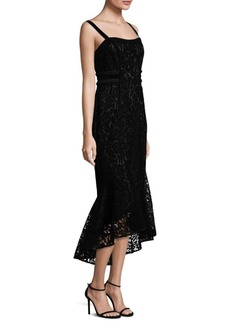 Laundry by Shelli Segal Flocked Velvet Hi-Lo Dress