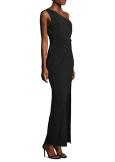 Laundry by Shelli Segal One-Shoulder Bodycon Gown