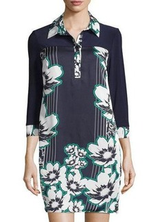 Laundry by Shelli Segal Floral 3/4-Sleeve Shirtdress