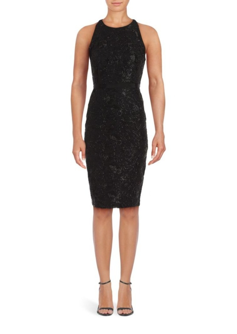 Laundry by Shelli Segal Floral Embroidered Sheath Dress