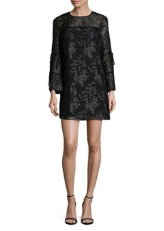 Laundry by Shelli Segal Floral Jacquard Bell Sleeve Dress