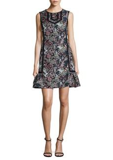 Laundry by Shelli Segal Floral Jacquard Shift Dress