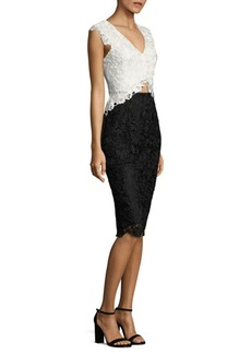 Laundry by Shelli Segal Floral Lace Cutout Dress