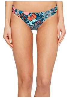 Laundry by Shelli Segal Floral Paisley Tab Side Hipster Bikini Bottom