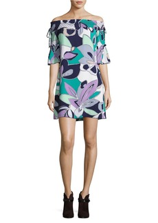 LAUNDRY BY SHELLI SEGAL Floral-Print Off-The-Shoulder Dress