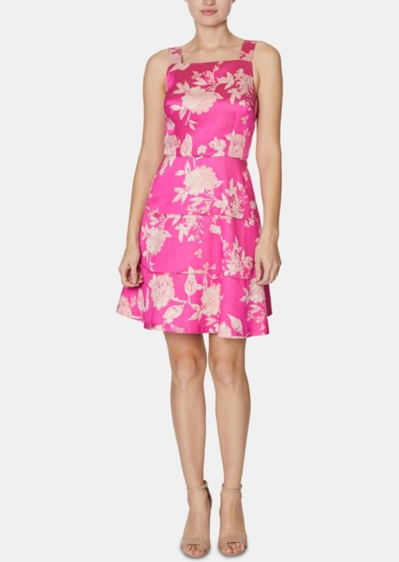 Laundry by Shelli Segal Floral-Print Tiered Fit & Flare Dress