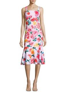 Laundry by Shelli Segal Floral-Print Trumpet Dress