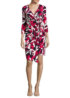 Laundry by Shelli Segal Floral-Print Wrap-Front Dress