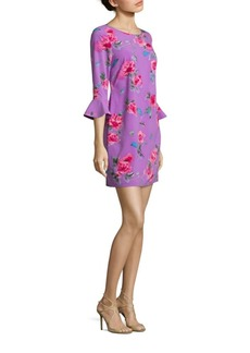 Laundry by Shelli Segal Floral Printed Crepe Dress