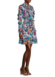 Laundry by Shelli Segal Floral Ruffled Dress