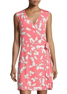 Laundry by Shelli Segal Floral Sleeveless Wrap Dress