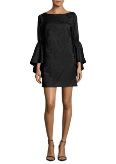 Laundry by Shelli Segal Floral Stretch Bell Sleeve Dress