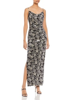 Laundry by Shelli Segal Floral Velvet Gown