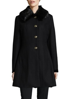 Laundry by Shelli Segal Faux Fur Car Coat