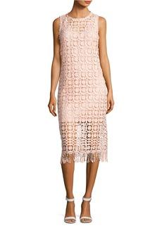 LAUNDRY BY SHELLI SEGAL Lace Fringe Hem Dress
