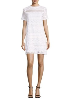Fringe Lace Shift Dress