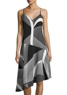Laundry By Shelli Segal Geometric-Print Asymmetric Cami Dress