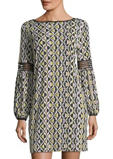 Laundry By Shelli Segal Printed Shift Dress With Lac