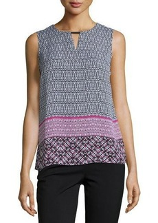 Laundry By Shelli Segal Geometric-Print Tank