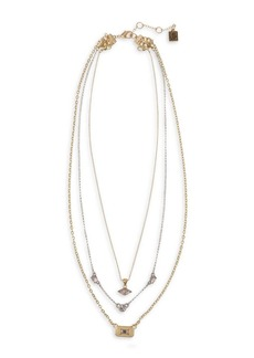 Laundry by Shelli Segal Gold Rush Goldtone & Crystal 2-Row Shaky Necklace