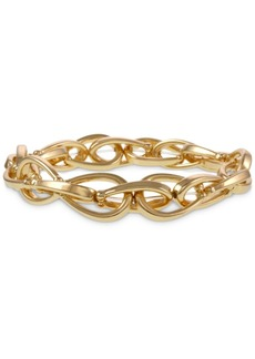 Laundry by Shelli Segal Gold-Tone Chain Link Stretch Bracelet