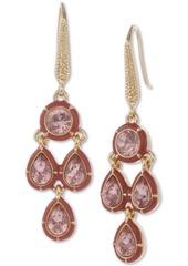 Laundry by Shelli Segal Gold-Tone Crystal & Stone Chandelier Earrings