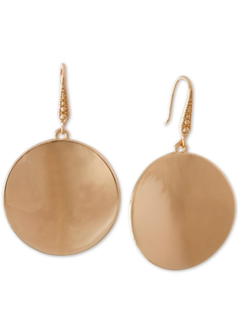 Laundry by Shelli Segal Gold-Tone Disc Drop Earrings